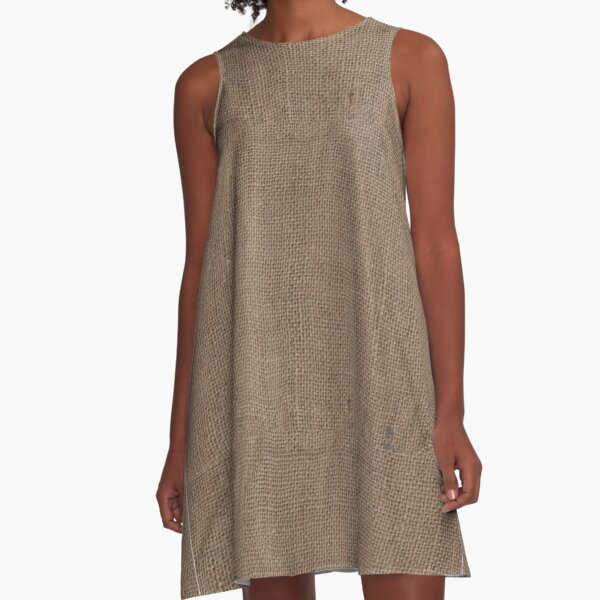 Plain Rustic Look A-Line Dress