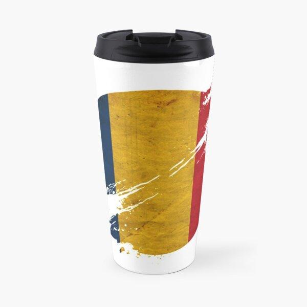 Romania vintage circle with flag Travel Mug