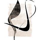 Interlocking Five   Minimalist Line Abstract by Menega  Sabidussi