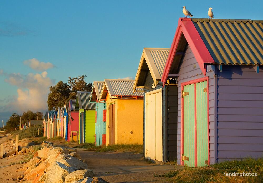 Wooden Rainbow, Dromana Beach by randmphotos