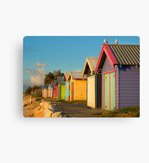 Wooden Rainbow, Dromana Beach Canvas Print
