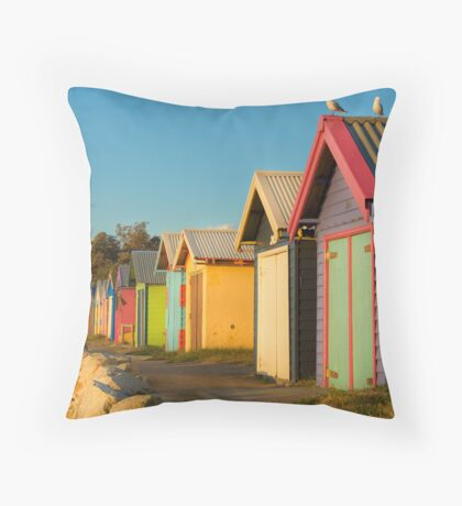 Wooden Rainbow, Dromana Beach Throw Pillow