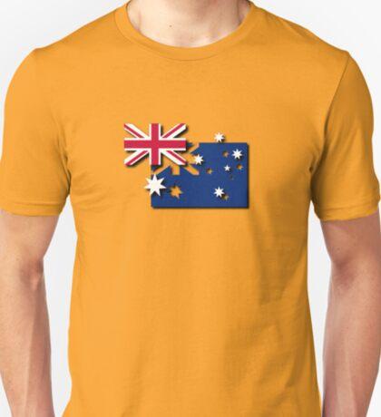 Layered Australian Flag T-Shirt T-Shirt
