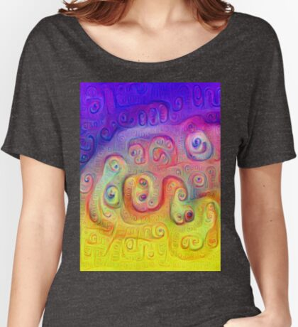 DeepDream Violet to Yellow 5K Women's Relaxed Fit T-Shirt