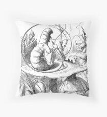 Cannabis and magic mushrooms in wonderland Throw Pillow