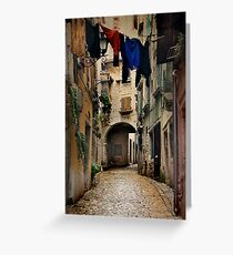 Street in Piran Greeting Card