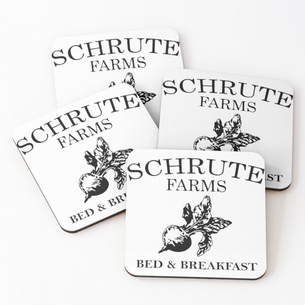 Schrute Farms - dwight schrute Coasters (Set of 4)