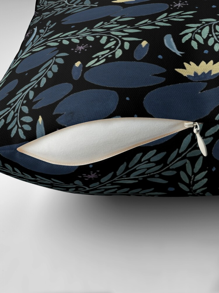 Alternate view of waterlily Throw Pillow