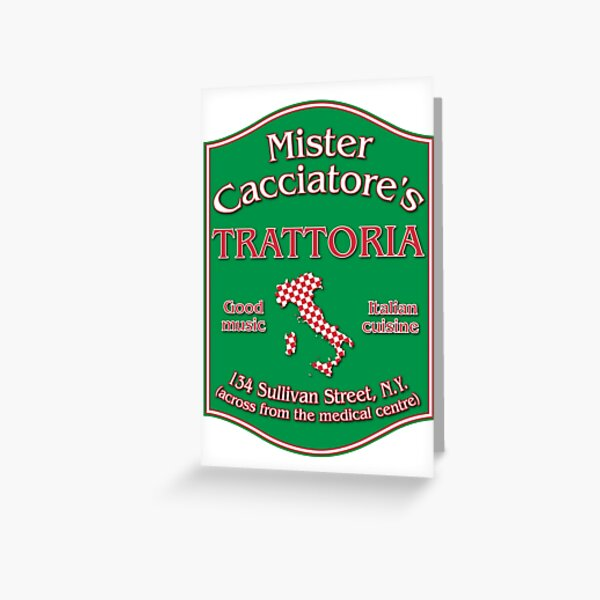 Mister Cacciatore's Greeting Card