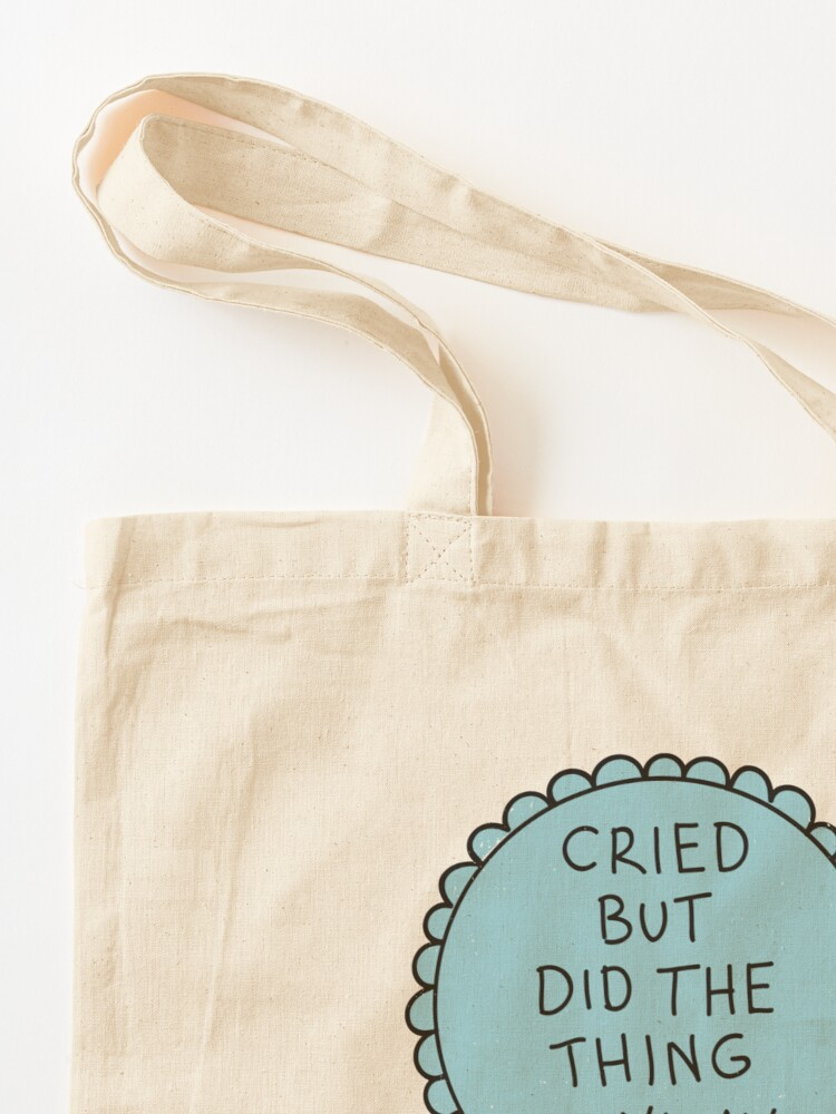 Alternate view of Did The Thing Anyway Tote Bag