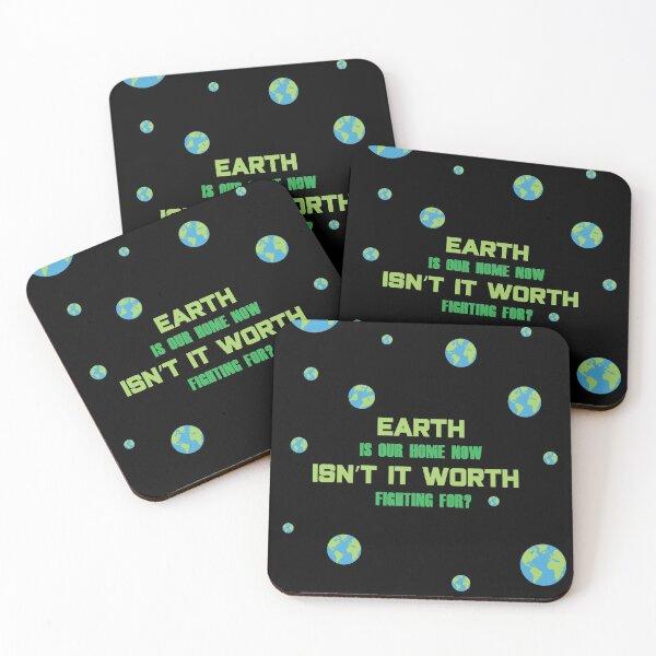 SU Peridot Earth Day Design Coasters (Set of 4)