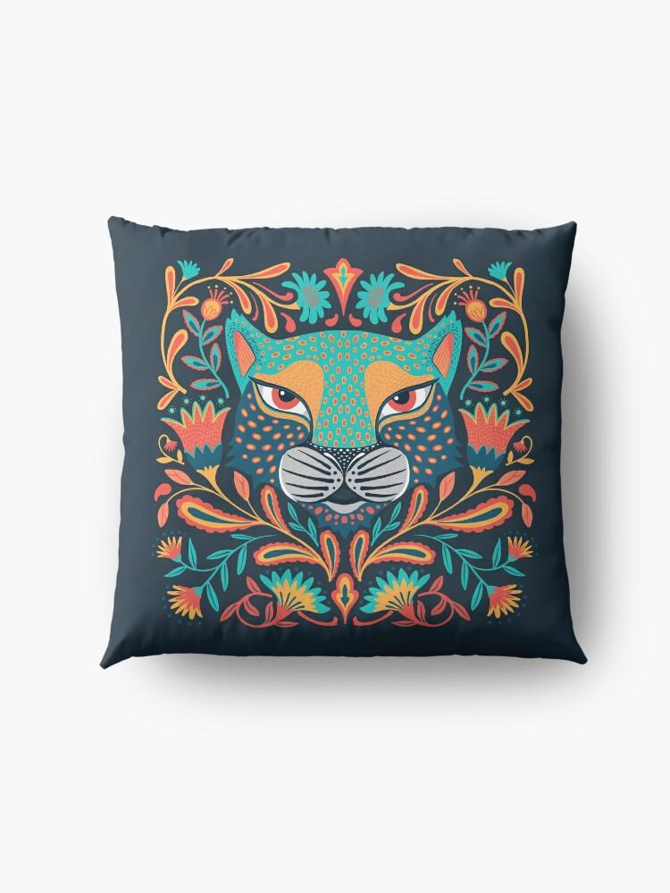 Alternate view of Folk jaguar Floor Pillow