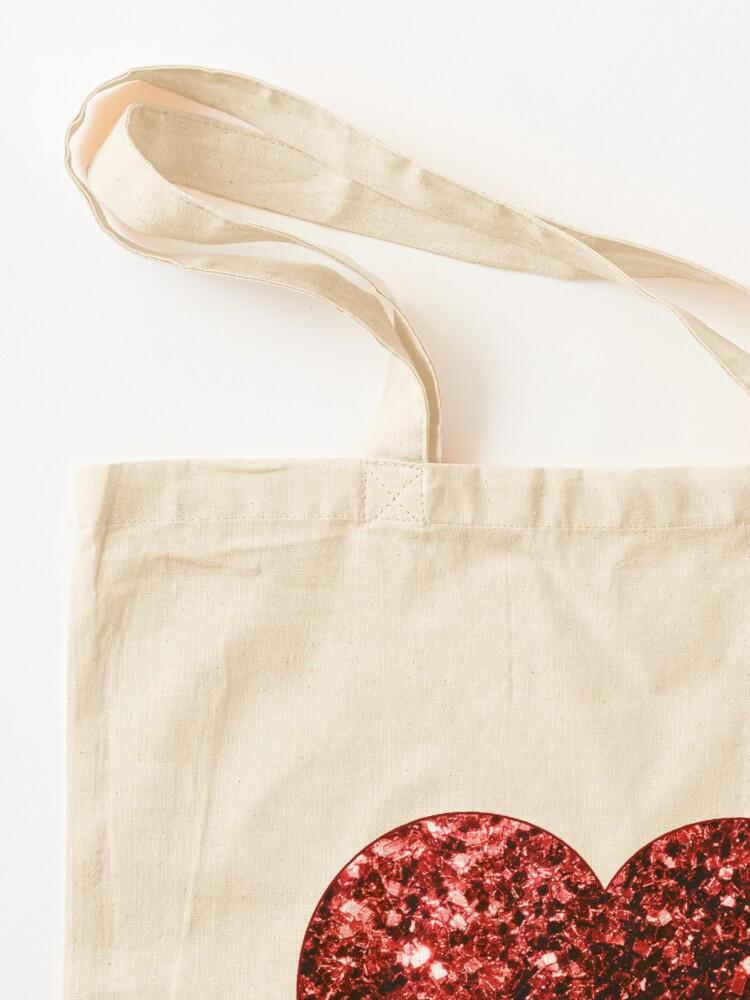 Vista alternativa de Bolsa de tela Glamour hermoso brillo rojo brilla