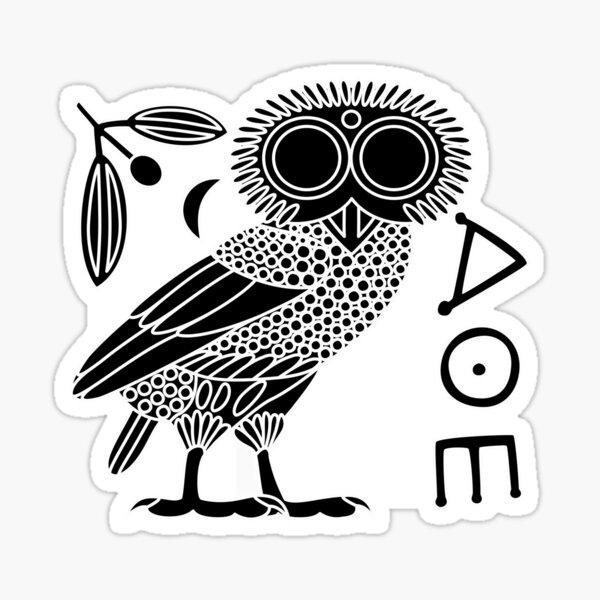 Owl of Athena [Black + All] Sticker