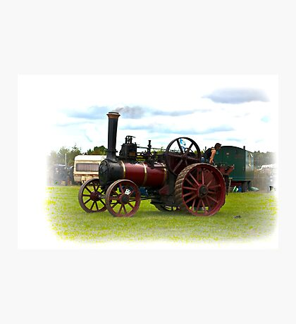 Steam Traction Engine Photographic Print