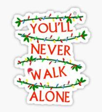 Pegatina Nunca caminarás solo Navidad, Liverpool FC
