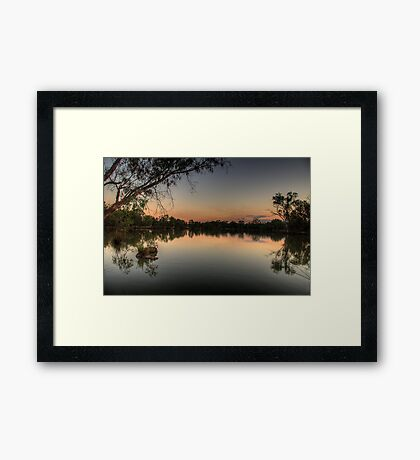 Meditation - Murray River, NSW Australia - The HDR Experience Framed Print