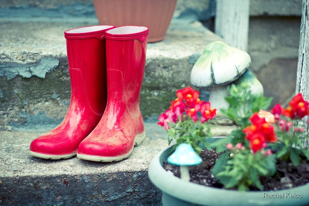 Red Galoshes by Rachel Kelso