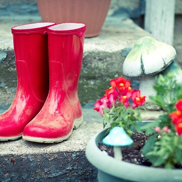 Red Galoshes by rachelakelso