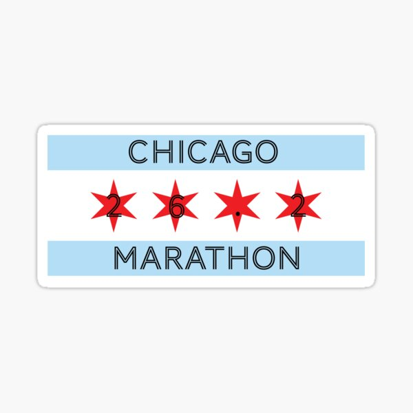 Chicago Marathon 26.2 Sticker