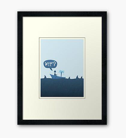 Sharks! Framed Print