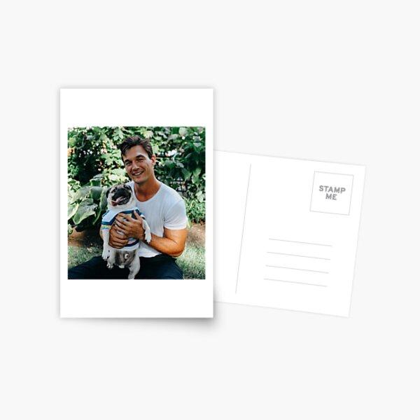 Tyler C with Dog Postcard