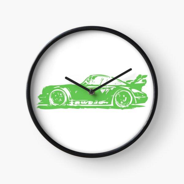 Green Porsche 911 Clock