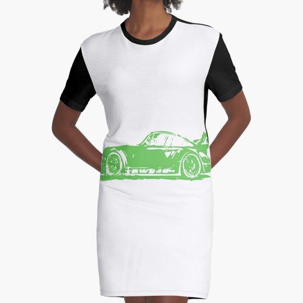 Green Porsche 911 Graphic T-Shirt Dress