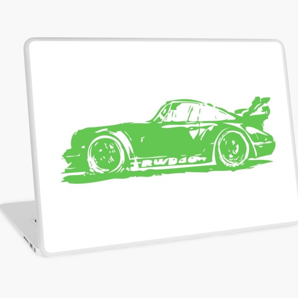 Green Porsche 911 Laptop Skin