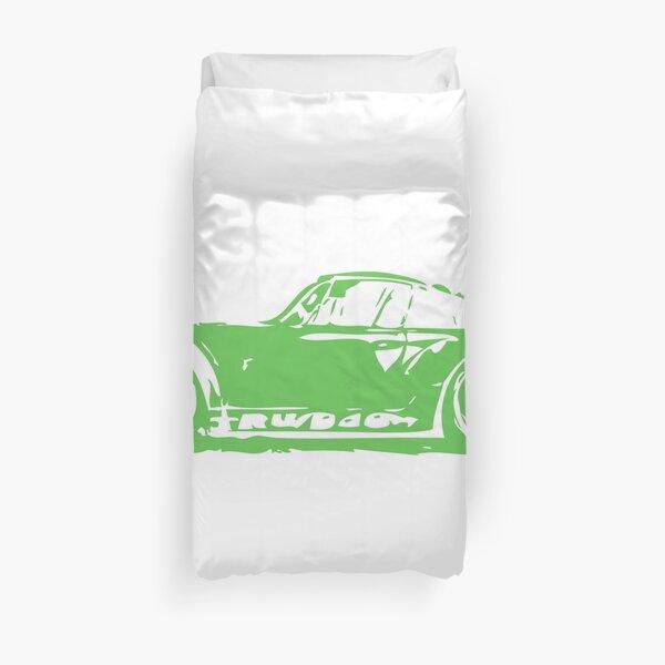 Green Porsche 911 Duvet Cover