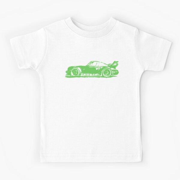 Green Porsche 911 Kids T-Shirt