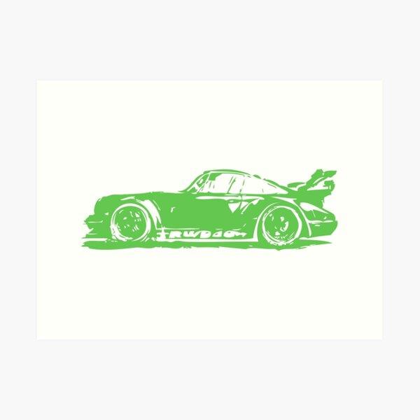 Green Porsche 911 Art Print