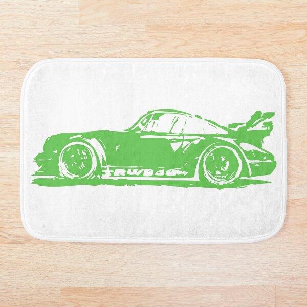 Green Porsche 911 Bath Mat