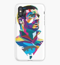 Eric Cantona Colour Portrait iPhone Case/Skin