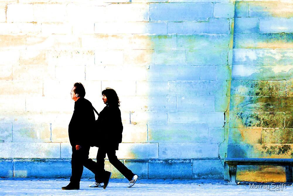 Twilight walk in the Jardin des Tuileries by Murray Swift