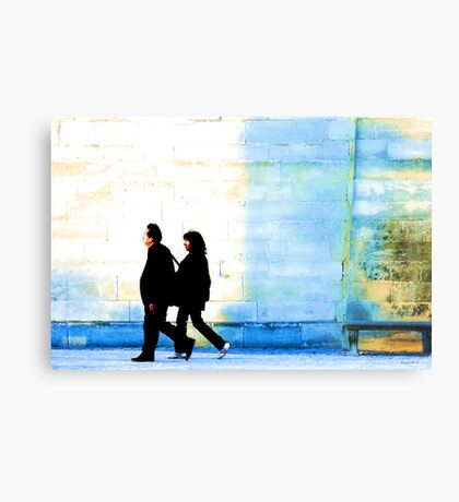 Twilight walk in the Jardin des Tuileries Metal Print