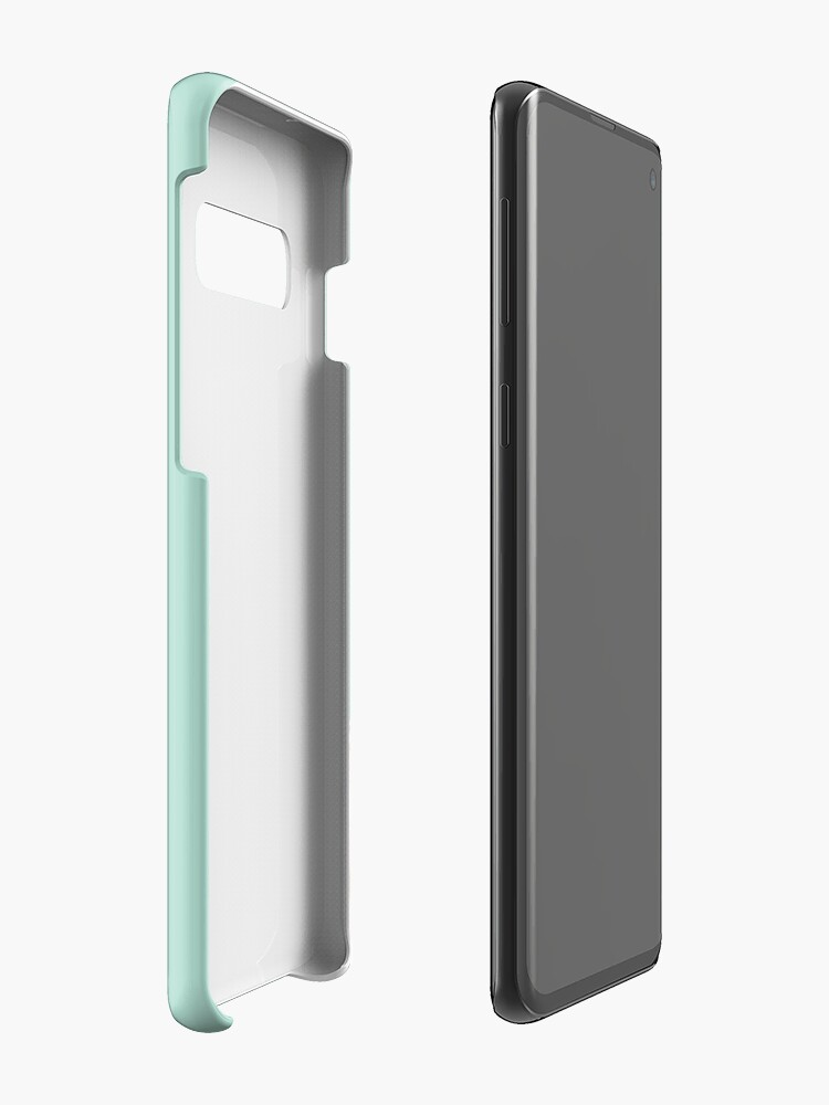 Alternate view of Bubble Gum Sneaky Llama in Green Case & Skin for Samsung Galaxy