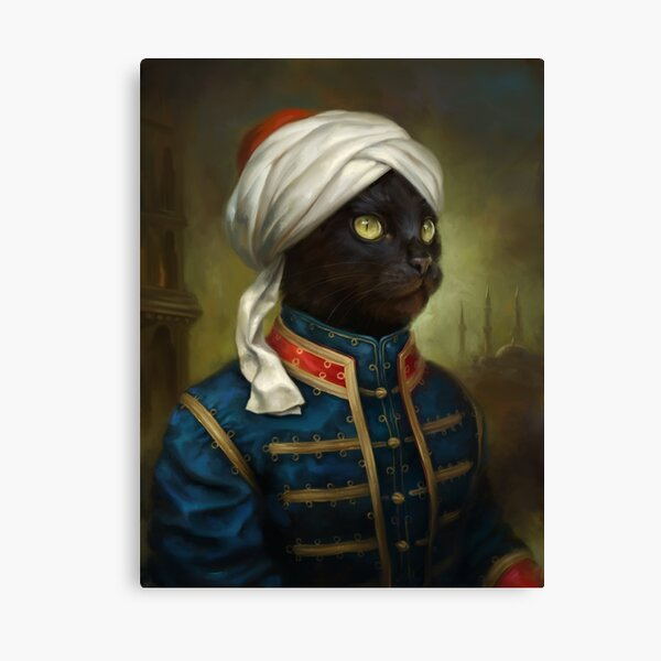 The Hermitage Court Moor Cat  Canvas Print