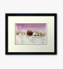 A BEAUTIFUL WINTER - AQUAREL Framed Print
