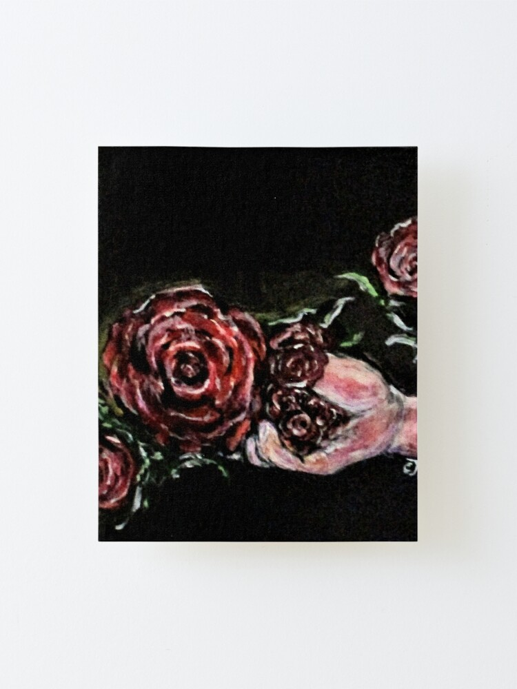 Alternate view of Rose In The Hand Mounted Print