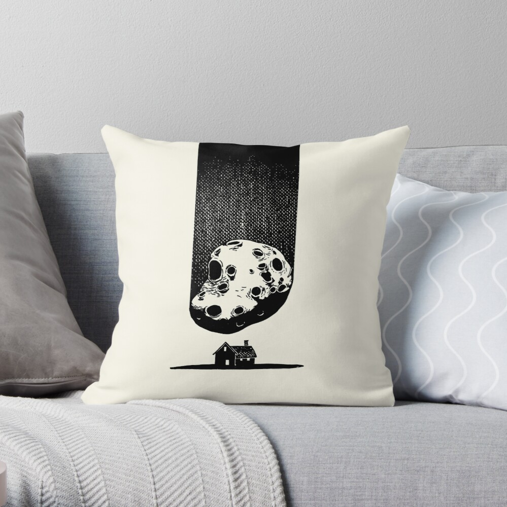 Trouble at Home Throw Pillow
