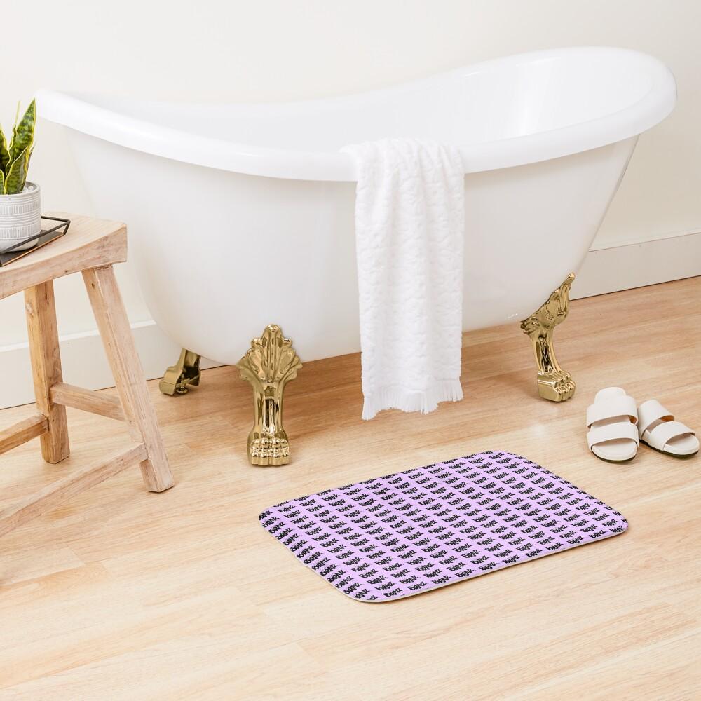 Pastel Purple Bratz Pattern Bath Mat