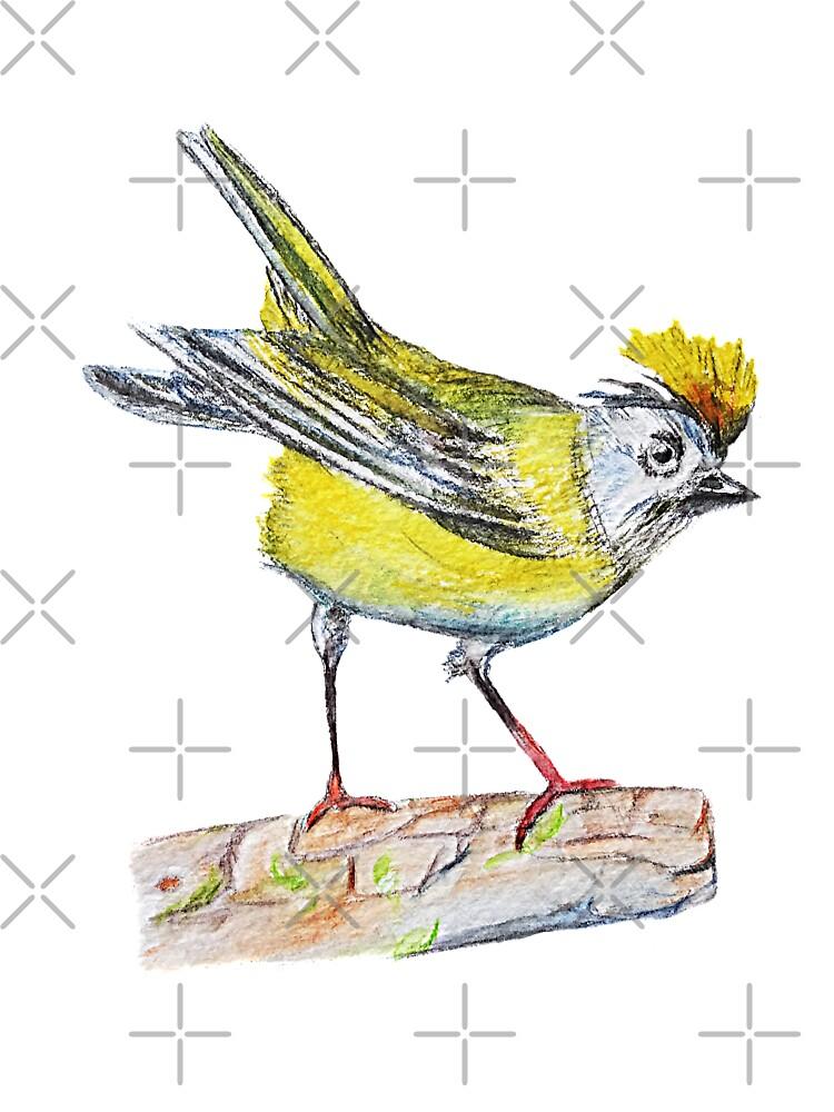 Yellow Bird Drawing Kids T Shirt By Manitarka Redbubble