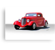 1934 Ford 'Isolated on White' Coupe Metal Print