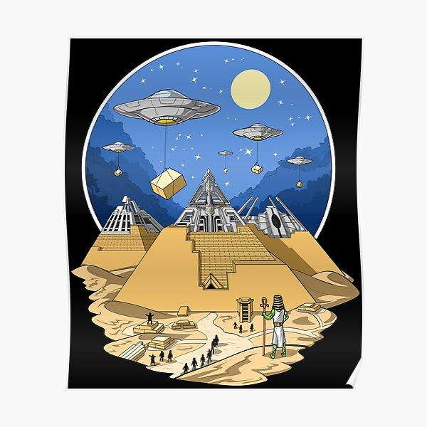 Egyptian Pyramids Aliens Poster