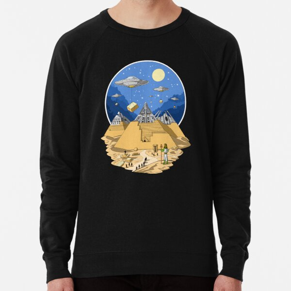 Egyptian Pyramids Aliens Lightweight Sweatshirt