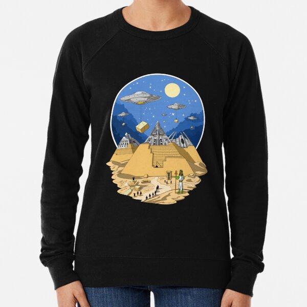 Egyptian Pyramids Aliens Lightweight Sweatshirt