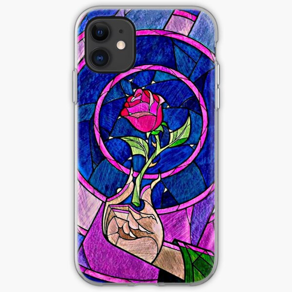 rose beauty and the beast iPhone Soft Case
