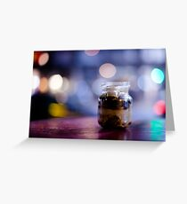 glass jar@night Greeting Card