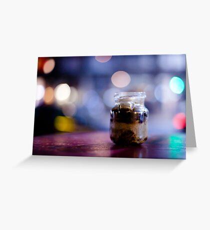 glass jar@night Greeting Card